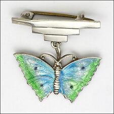 English Art Deco Silver Enamel Butterfly Brooch/Pin