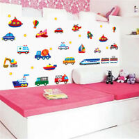 Various Car Wall Sticker Decal Home Decor Removeable Kids BedRoom PlayRoom3C