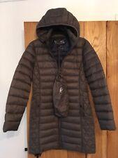 Womens Michael Kors MK Long Packable Coat Paca Mac Jacket Grey Medium approx 12