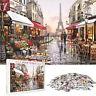 1000 Piece Puzzle Educational Jigsaw Puzzles Paris Flower Street Adults Kids Toy