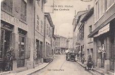 SAIN-BEL rue centrale boulangerie voiture éd cellier-porte timbrée 1931