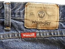 Wrangler regular fit mens medium blue jeans 42  x 32 LAR-O395-039 & 9650 1MR