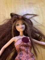 MY SCENE Barbie Doll CHELSEA auburn highlighted hair nude with tattoo,  P75