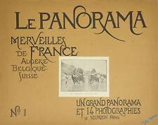 LOT 24/25 PANORAMA MERVEILLES DE FRANCE Fotografías DE NEURDEIN Frères