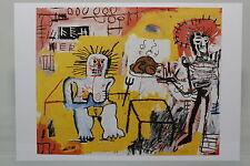 """JEAN-MICHEL BASQUIAT : """"ARROZ CON POLLO""""  Kunst-Postkarte"""