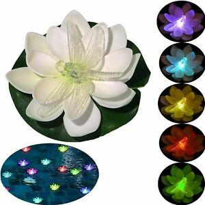 6 Pack Floating Pool Lights,Battery Operated Floating Flowers, Pond  (Dragonfly)