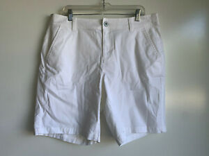 LANE BRYANT Women's White Cotton Blend Bermuda Shorts Size 18 ~Very Good Cond~