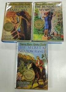 Nancy Drew Applewood Edition 3 LOT Hidden Staircase, Bungalow, Shadow Ranch hcdj