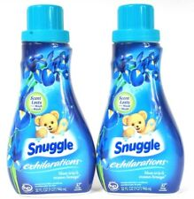 2 Snuggle Exhilarations Blue Iris Ocean Breeze Concentrated Fabric Conditioner