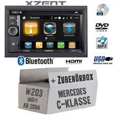 Xzent Autoradio für Mercedes W203 2DIN Bluetooth DVD CD USB HDMI Touch Set KFZ