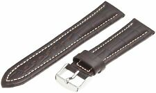 20mm Hadley Roma Brown Remborde Contrast Alligator Grain Mens Watch Band Reg 895