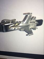 Sukhoi Su-35 C61 Aircraft Fighter English Pewter Emblem on a Tie Clip 4cm long
