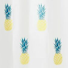 Pineapple PEVA Shower Curtain Yellow/Teal