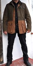 DRIES VAN NOTEN Two Tone Colour Block Khaki Jacket w/ Hood Sz M Rare Sold Out!