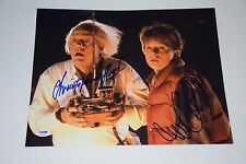 MICHAEL J FOX, CHRISTOPHER LLOYD SIGNED AUTOGRAPHED 11x14 PHOTO PSA/DNA AB00882
