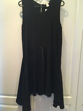 H&M Dress Drape Sides Black Size 14 New With Tag