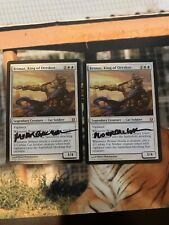 Magic the Gathering Brimaz King of Oreskos x2 NM Signed