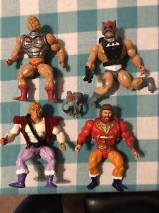 Vintage MOTU He-Man Figure Lot- Prince Adam, Battle He-Man, King Randor, & Zodak