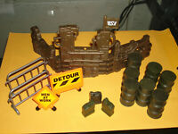 Barrels and wall Power Team Elite / World Peack Keepers 1:18 diorama accessories