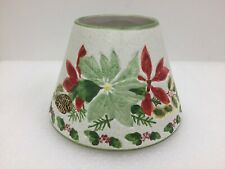 Yankee Candle Large Holiday Jar Topper Shade Poinsettia Christmas Home Decor