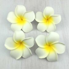 100 X 9cm White Floating Frangipani Plumeria Hawaiian Flower Heads DIY Wedding