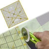 Transparent quilten nähen patchwork lineal schneidwerkzeug schneider v N9Y3