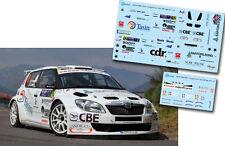 C047 Decal 1:43 Renato Travaglia - SKODA FABIA S2000 - Rally 1000 Miglia 2011