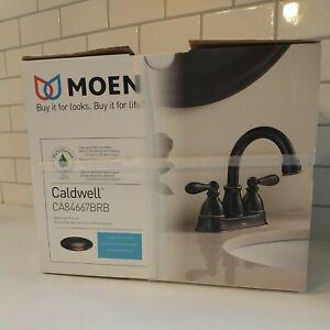 Moen CA84667BRB Mediterranean Bronze Caldwell Bathroom Faucet arc lavatory