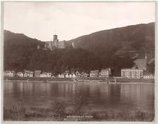 Allemagne, Stolzenfels und Capellen  Vintage print.  Photomécanique  21x27