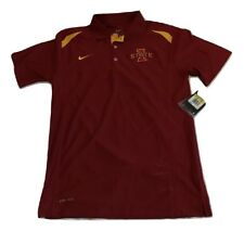 New Nwt Iowa State Cyclones Nike Dri-Fit Basketball Size Small Polo Shirt