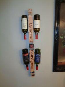 Wall Mount Wine Bottle Rack Reclaimed Wood Bottle Rack-Holder New