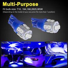 30 X Ultra Blue T10 10SMD 5050 LED INTERIOR Light bulbs W5W 2825 158 192 194 168