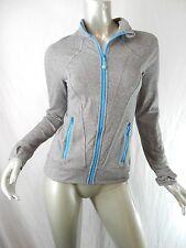 Ivivva Lululemon Heather Silver Kayak Blue Perfect Your Practice Jacket Sz 14