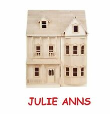 BEAUTIFUL VICTORIAN  ASHBURTON DOLLS HOUSE  KIT WOODEN,12th SCALE NEW JULIE ANNS