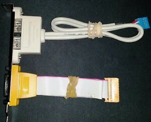 Dual 2 USB ports and One Game Port PCI Slot Bracket Cables Adapters by ASUS