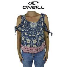 Womens O'Neill Lianne Floral Blue Surf Summer Sleeveless Top Red Tank O1.17