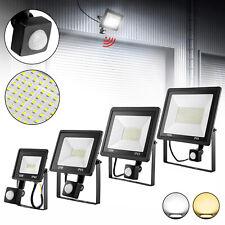 LED Fluter Gärten Strahler 10W - 100W Flutlicht Scheinwerfer mit Bewegungsmelder