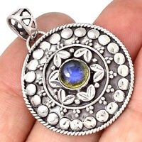 Artisan - Labradorite 925 Sterling Silver Pendant  Jewelry PP189432