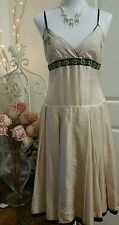 Table Eight sz 10 pale pink silk Party dress with sequins!Gorgeous! Timeless Fab