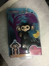 Nib Fingerlings Finn Baby Monkey Black Sealed in Box Free Ship! New Usa Seller