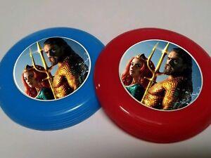 12 AQUAMAN mini frisbees birthday party favor, treat, DC COMICS SUPERHERO