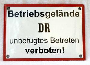 Emailleschild BETRIEBSGELÄNDE DR Betreten verboten 17x12 cm Reichsbahn