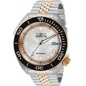 Invicta Pro Diver 30419 Men Two Tone Automatic Exhibiton Silver Dial Watch