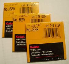 Kodak wratten GELATINA Filtro NO 82a 7.6cm OR 75mm Cuadrado