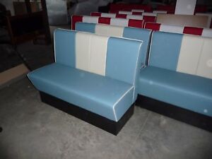 Restaurant fixed bench seating . booth booths custom made banquette