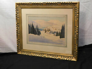 Graham Noble Norwell Major Listed Artist Original Rural Winter Landscape