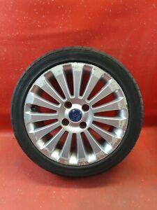 """x1 Ford Fiesta Mk7 Alloy Wheel Tyre 16"""" Inch Silver 15 Spoke 8V211007HA  ref101"""