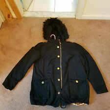 Baby Phat Womens Winter Coat W/ Detachable Fur Hood Size L