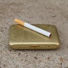 High Grade Collectable Vintage Solid Brass Copper Cigarette Case Holder Box Gift