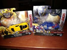 2 HASBRO TRANSFORMERS ONE-STEP TURBO CHANGER W1 OPTIMUS PRIME & BUMBLEBEE